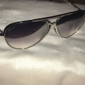 Gradient Gucci aviator sunglasses never worn